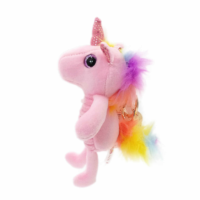 12cm Kawaii Unicorn בפלאש צעצועי חיות פרווה בובות בפלאש Keychain חמוד קטיפה Unicornio בובת תיק מפתח שרשרת רך צעצועים עבור ילדה
