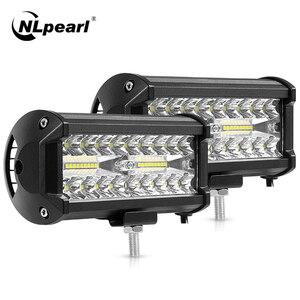 Nlpearl 4'' 7'' Light Bar/Work Light 60W 120W Led Bar Offroad Combo Led Work Light Bar for Tractor Truck 4x4 SUV Jeep 12V 24V