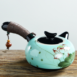 Classic Hand-Painted White Porcelain Teapot Ceramic Chinese Kung Fu Pot Heat Resistant Teaware