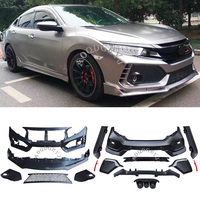 Unpainted Car Modification upgrade TYPER style Conversion Body kit For Honda 10th Gen Civic 4DR SEDAN 2016 2020 Car styling