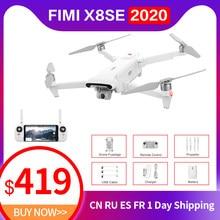 Fimi x8se 2020 câmera zangão fpv 3-axis 4k gps 8km 35 minutos de tempo de vôo profisional rc quadcopter zangão em estoque ru armazém