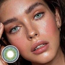 Lentilles de Contact colorées pour femmes, cosmétiques, annuelles, jetables, Halloween, Cosplay, bleu, Himalaya