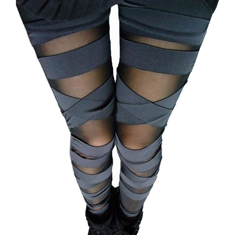 YGYEEG Sport Leggings Jogging Trousers Black Mesh Leggings Fitness Pants Sports Gym Running Slim Sexy Fitness Bandage Leggings