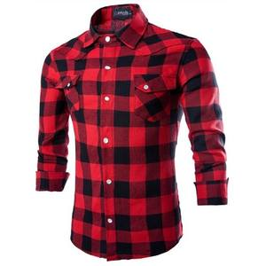 ZOGAA Plaid Shirt Long-Sleeve Casual Cotton New-Fashion Slim Soft New-Products Comfortable