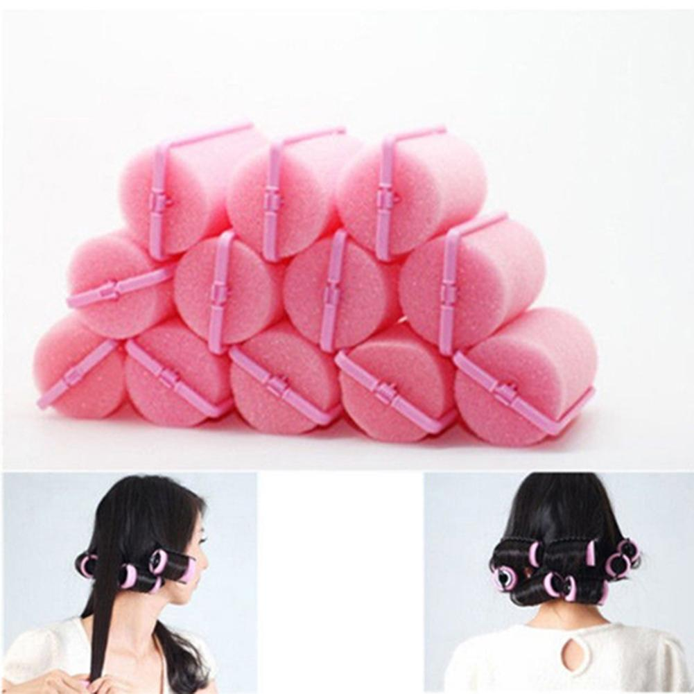 Fashion 12Pcs/Bag Magic Sponge Foam Cushion Hair Styling Rollers Curlers Twist No Heat Hair Styling Tool