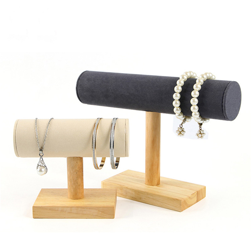 Log jewelry display stand, bracelet / watch / necklace display support, simple jewelry storage rack, jewelry display props
