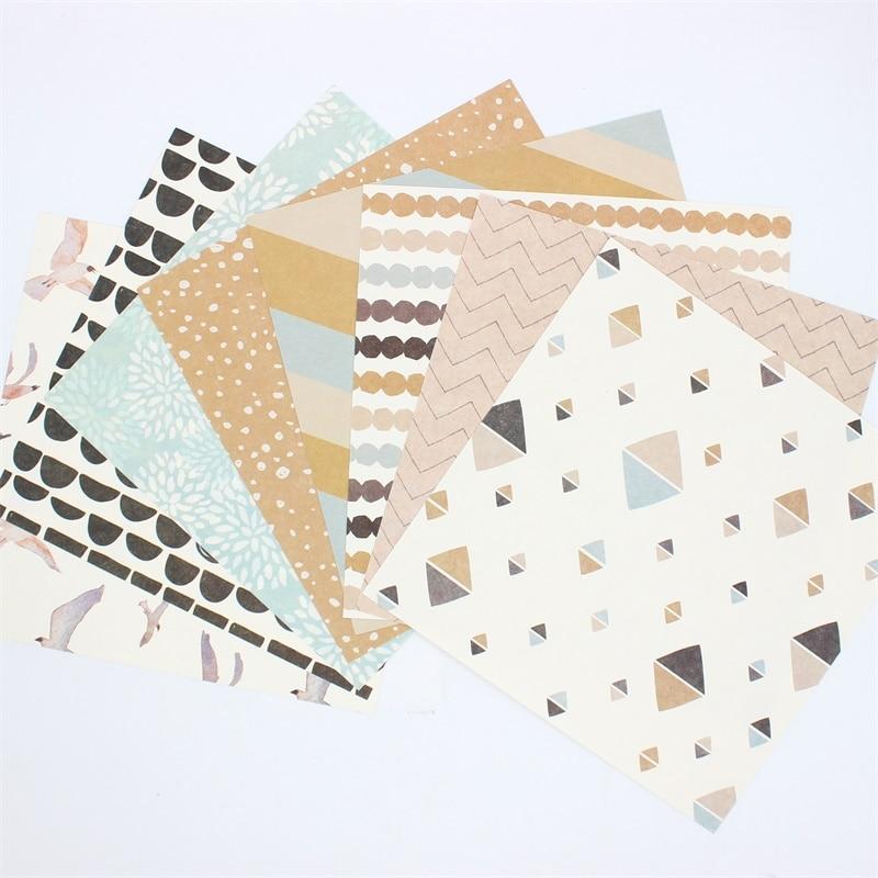 KSCRAFT 16pc Flying Through The Breez Scrapbooking Pads Paper Origami Art Background Paper Card Making DIY Scrapbook Paper Craft