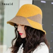 Bucket-Hats Fisherman's-Hat Knitting-Caps Winter Fashion Women's Warm Wool Casual Autumn