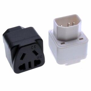 IEC320-C14 китайский AU EU US 2 Pin Универсальный адаптер питания Разъем PDU/UPS сервер AC адаптер питания розетка конвертер