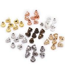 5*6mm 200 pces brinco studs backs rolha rolos orelha descobertas diy tampões bloqueados brinco backs rolhas acessórios da orelha suprimentos