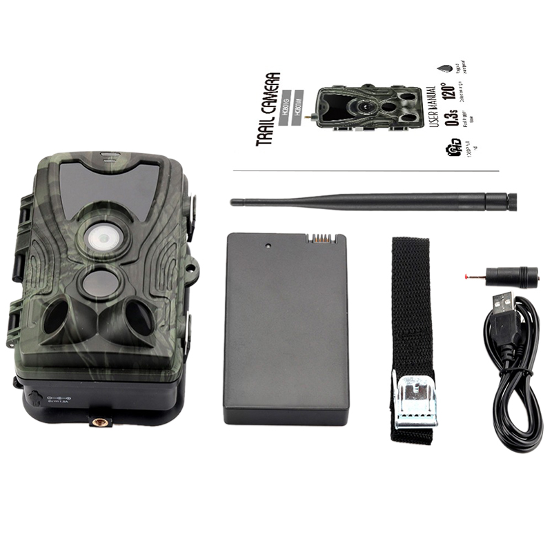 Hc-801Lte 4G Hunting Camera 16Mp Trail Camera Ip65 Photo Traps 0.3S Wild Camera With 5000Mah Lithium Battery