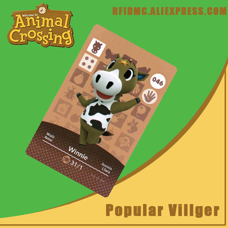 046 Winnie Animal Crossing Card Amiibo For New Horizons