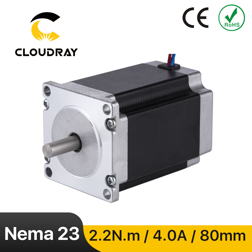 Nema 24 Stepper Motor 60mm 2 Phase 2.2N.m 4A Stepper Motor 4-lead  Cable for 3D printer CNC Engraving Milling Machine