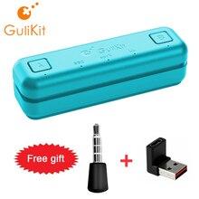 Gulikit محول USB C لجهاز Nintendo Switch / Lite PS4 PS5 PC ، جهاز إرسال ، دردشة صوتية