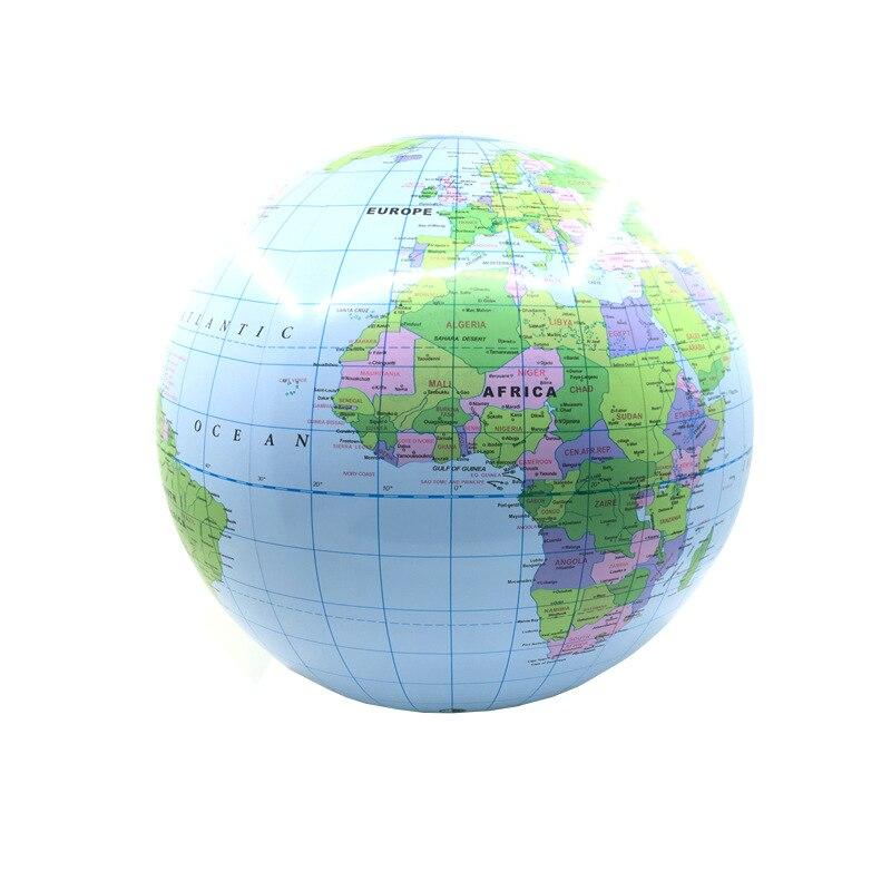 Globo inflable de 30cm, mapa de tierra, Océano, pelota de aprendizaje de geografía, pelota de playa educativa para niños, suministros educativos de Geografía