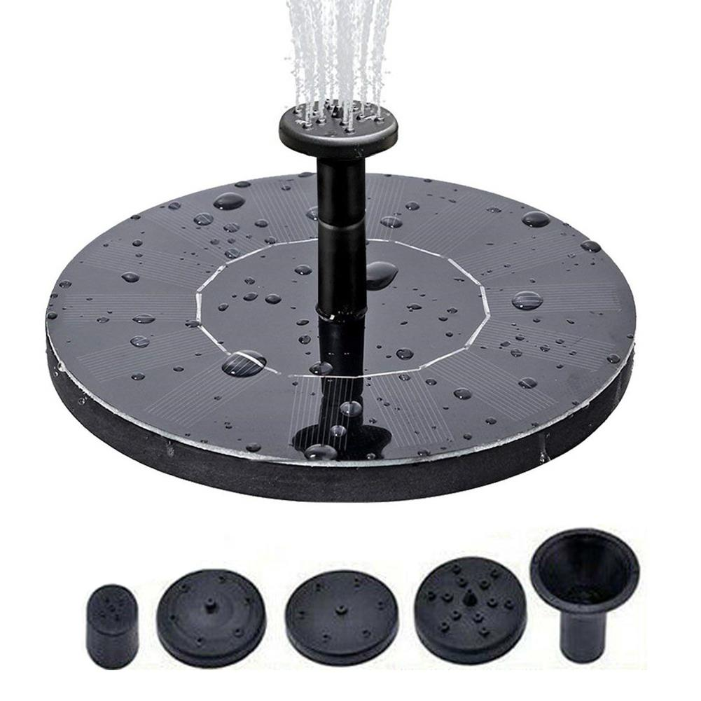 Dropshipping Solar Power Pump Bird Bath Fountain Water Floating Pond Garden Patio Decor