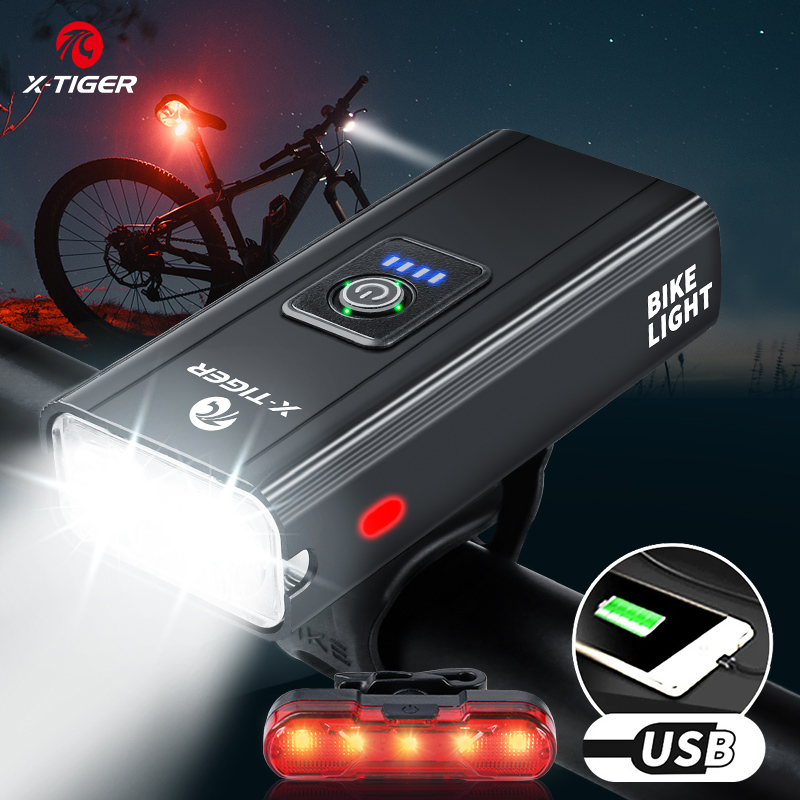 5000LM LED Bicycle Headlight Road Bike Front Head Lamp Night Riding Rechargeable