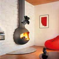 Tipo montado na parede 4 lâmina calor alimentado fogão ventilador log queimador de madeira eco silencioso casa lareira ventilador distribuição calor poupança combustível