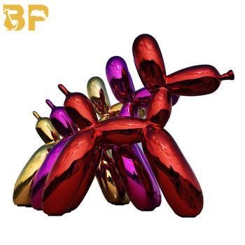 Edycja limitowana JK balon pies poszycie balon figurka psa ozdoby do domu żywiczne kolory metalowe poszycie Craft świąteczny prezent tanie i dobre opinie CN (pochodzenie) Europejska Zwierząt Z żywicy