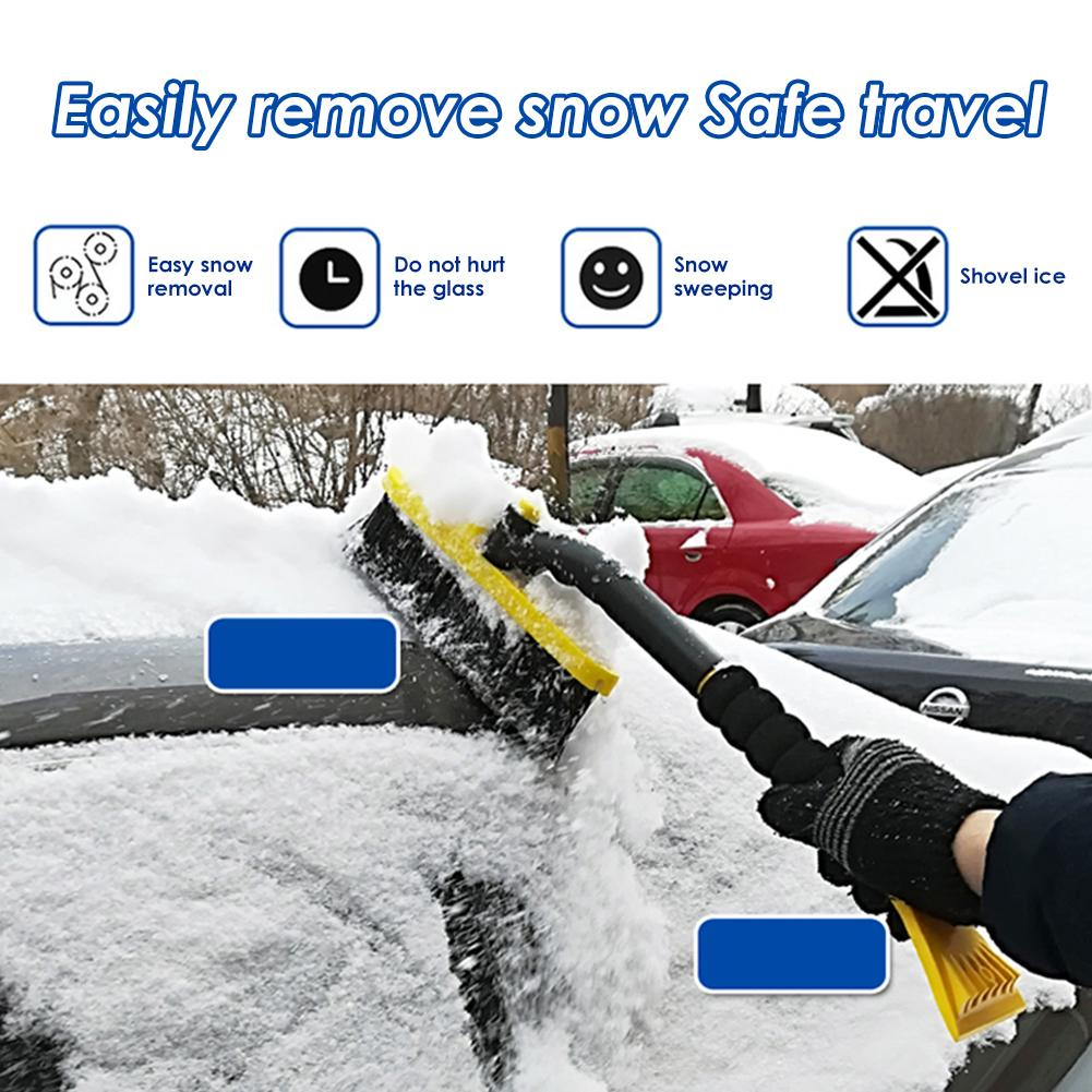 Ice Shovel Car Windshield Snow Scraper Portable Cleaning Removal Brush Tools New