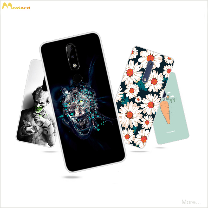 For <font><b>Nokia</b></font> 5.1 plus Case Silicone Etui Phone Cover For <font><b>Nokia</b></font> 5.3 Case Soft TPU Coque Nokia5.1 Nokia5 TA <font><b>1053</b></font> TA-1024 Transparent image