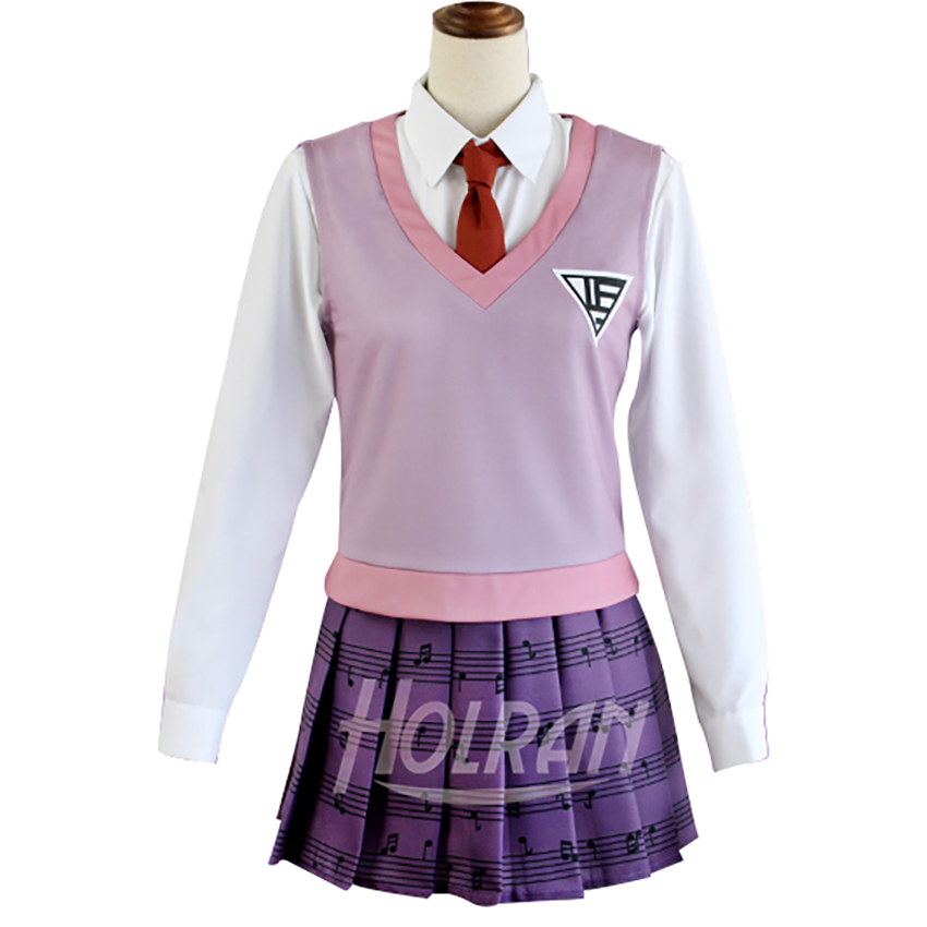 Akamatsu kaede Cosplay Costume Danganronpa V3: Killing Harmony Pianist Suits JK Preppy Style School Uniform