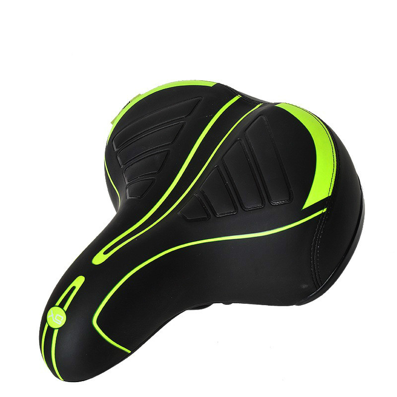 Comfortable Wide Big Bum Bike Bicycle Gel Cruiser Extra Sporty Soft Pad Saddle Seat Suitable For Any Type Of Bike-Black