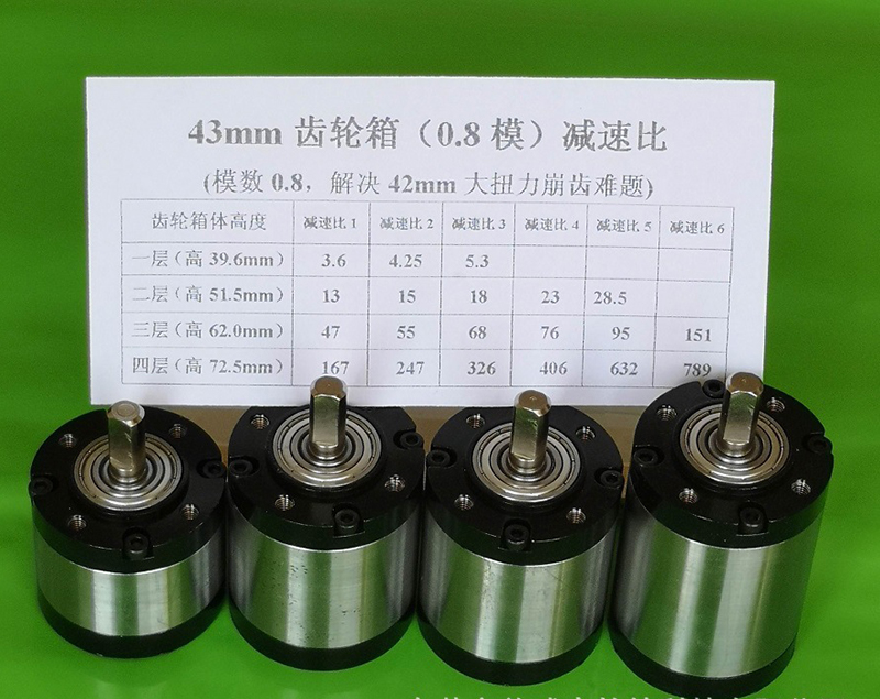 GOOD (1PCS) 42MM 43MM Diameter Planetary Gearbox For 775 795 895 DC Motor