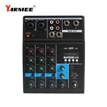 Bluetooth Audio Mixer Professional Sound Mixing Console Sound Card For Recording Small Party