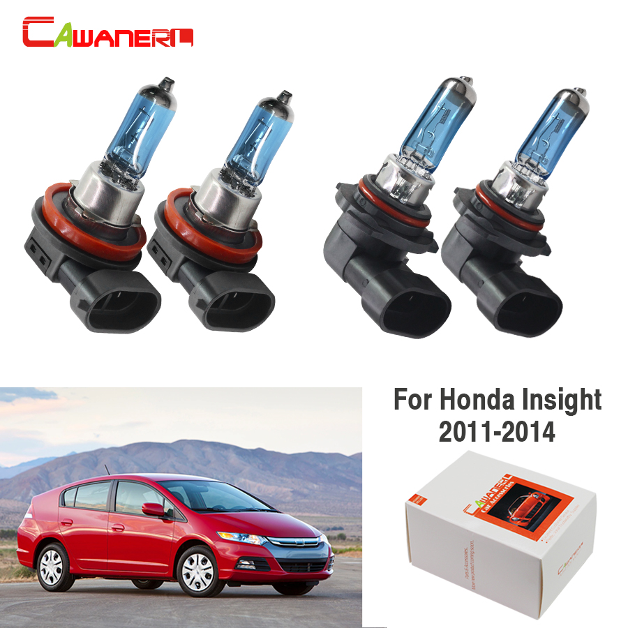 White Xenon Headlight Bulbs H11 100w Fits Honda Insight 1.3 Hybrid
