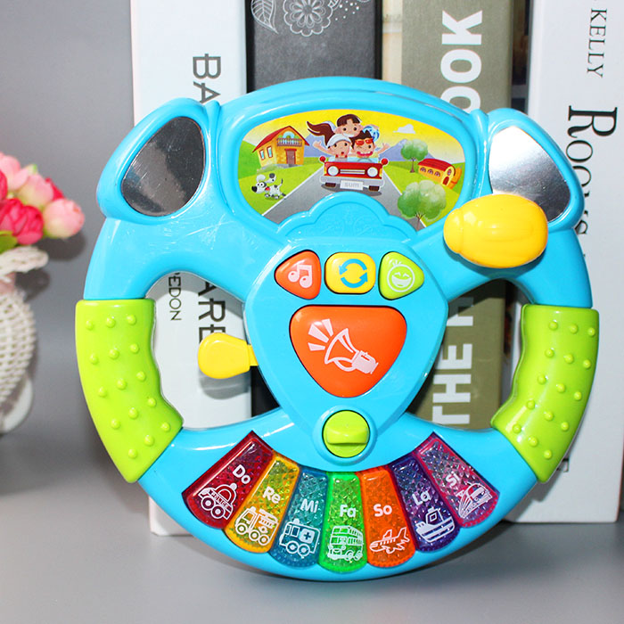 Promotion Toy Musical Instruments For Kids Baby Steering Wheel Musical Handbell Developing Educational Toys For Children Gift
