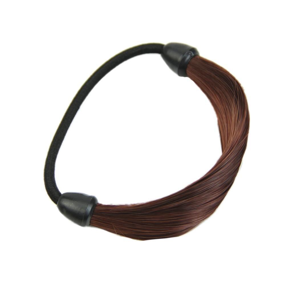 Модный корейский парик, заколки для волос, резинка для волос - Цвет: Бордовый