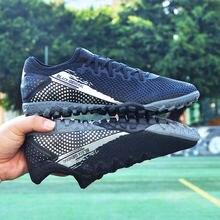 Мужская футбольная обувь mwy черная тренировочные футбольные