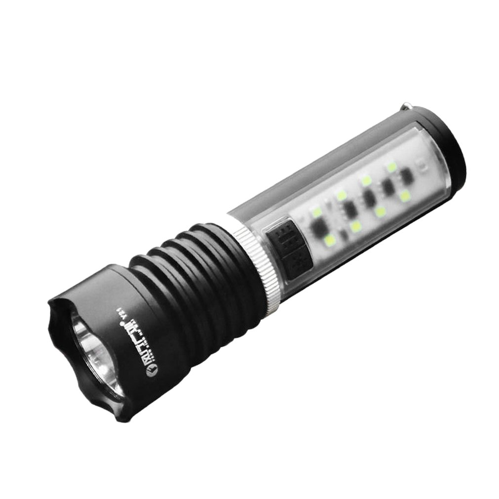 Portable Size Super Bright 200LM LED Torch Metal Magnet Waterproof Outdoor Camping Hiking Emergency Torch Flashlight