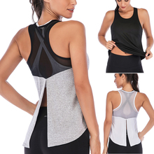 Top Gymshirt-Vest Athletic-Undershirt Running Tank-Top Sports-Shirt Fitness Sleeveless
