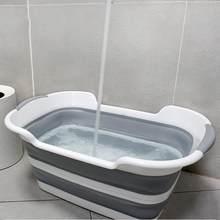 Multifuntional crianças lavagem banheira dobrável cesta de roupas diversos recipiente pet banheira
