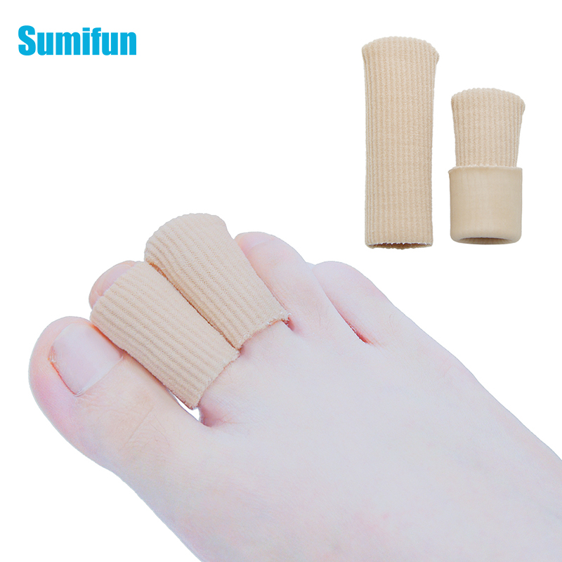 1pcs Gel And Cotton Foot Fingers Toe Gel Cap Finger Toe Blister Callouse Relief Tube Protector Small Foot Care Health Toe Health