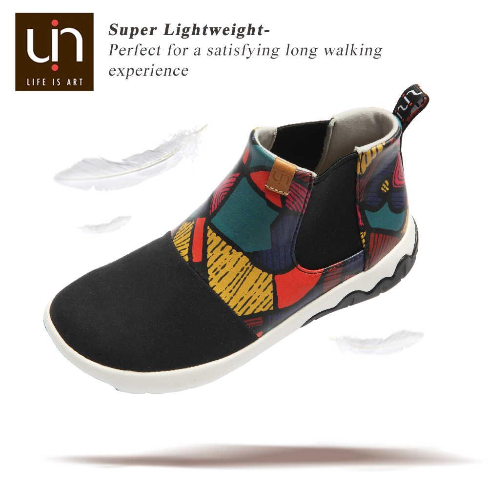 UIN sıcak moda çizmeler büyük çocuklar için sonbahar/kış bileğe kadar bot mikrofiber deri çocuk botları süper hafif kız/erkek ayakkabı