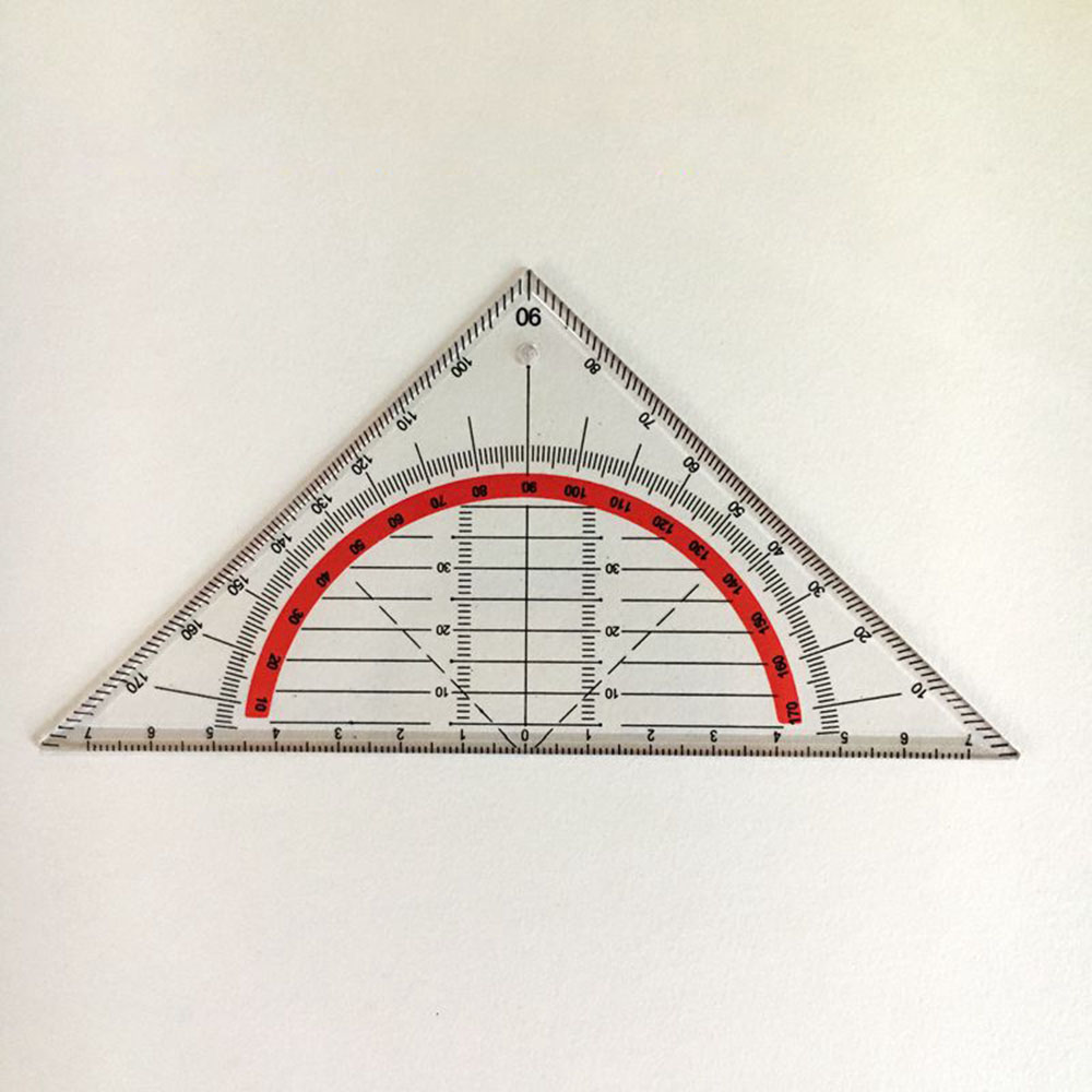 15cm Multi-function Square Triangle Scale Rulers Engineering Ruler Stationery Office Students Protractor Measurement Rulers