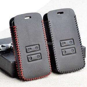 Image 5 - Para renault dacia duster 2020 botões chaves inteligentes couro genuíno carro de controle remoto chaveiro capa caso acessórios