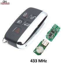Wysokiej jakości przycisk 4 + 1 klucz zdalny for land Rover Range Rover Sport zdalny inteligentny brelok 433MHZ ze słowami na S