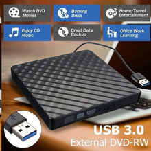 Kecepatan Tinggi Eksternal CD/DVD Driver Case USB 3.0 RW Burner Reader ROM Drive Optik Case untuk Laptop notebook untuk Mac Windows(China)
