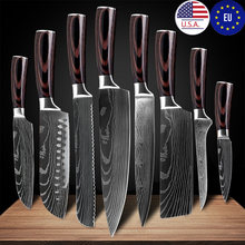 Кухонные ножи из нержавеющей стали нож шеф повара с лазерным