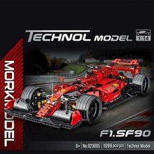 high-tech Series Simulation Formula F1 Racing Car Model Building Blocks Bricks Creator Car Toys Kids Birthday Boys Gifts