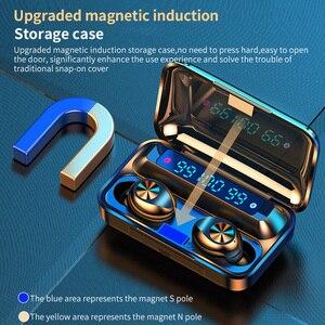 Image 4 - חדש F9 TWS Bluetooth אוזניות 5.0 טעינת תיבה עמיד למים אלחוטי אוזניות 8D סטריאו ספורט אוזניות Microphoe עבור טלפון חכם