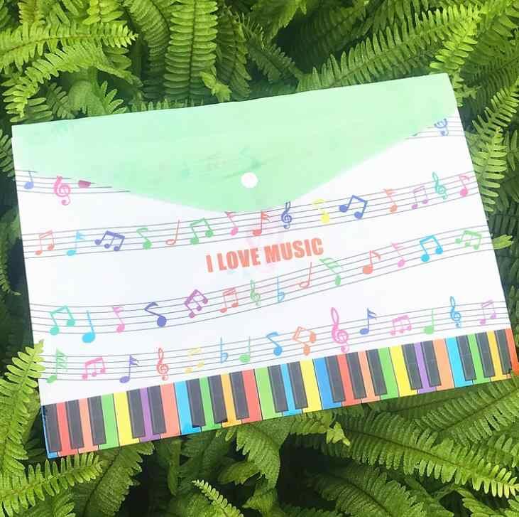 1 Pcs חמוד A4 מוסיקה נושא פסנתר מכשירי מסמך שקיות בדיקה תלמיד בעל קובץ אחסון ארגונית מכתבים מתנות