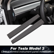 New Model 3 Model Y Car central control trim strip ABS for Tesla Model 3 Accessories Central console package kit protection lapetus accessories for tesla model x 2016 2017 2018 front hood bonnet strip head engine trim decorative strip molding cover kit