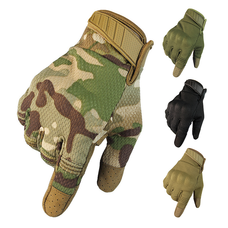 New Military Tactical Gloves Motorcycle Touchscreen Gloves Anti-skid Breathable Climbing Sports Gloves Full Finger Combat Gloves