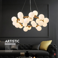Art Decorative LED Bubble Pendant Lamp Hanging Lights Golden G4 Hotel Restaurant Lounge Loft Foyer Lobby Modern Fashion Lights