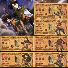 Коллекционные золотые банкноты из фольги «атака на Титанов», японские золотые банкноты 10000 иен, новинка 2021
